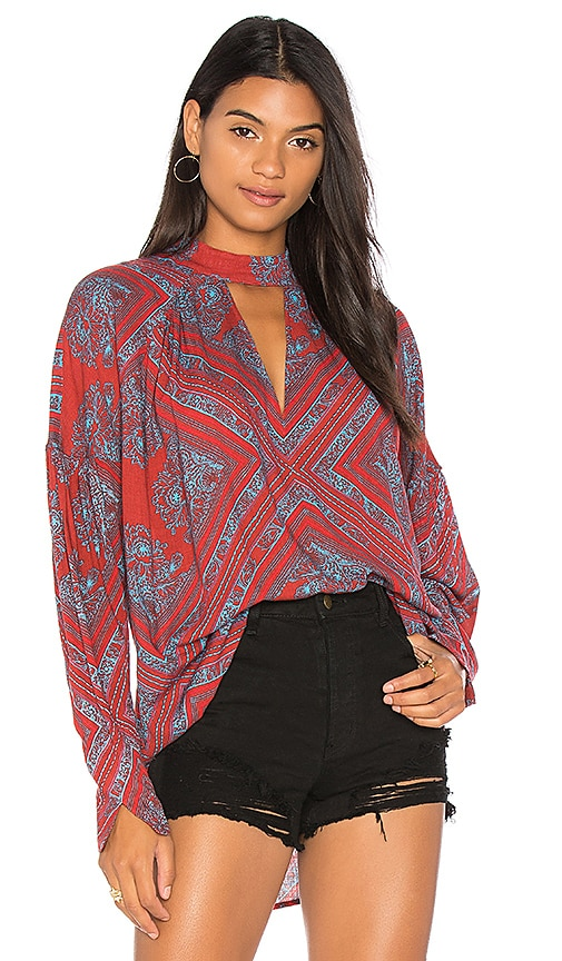 Free People Walking On A Dream Tunic in Red