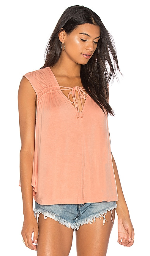 Free People Back In Town Top in Peach