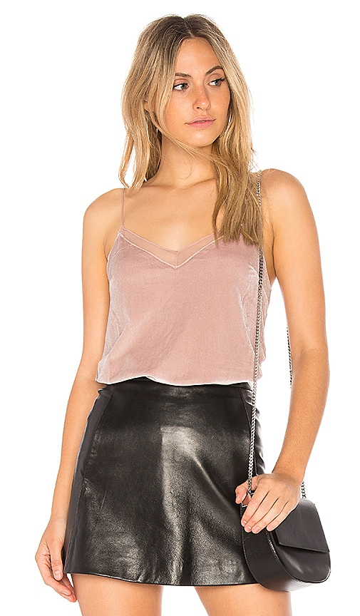 Free People Velvet Solid Tank in Blush
