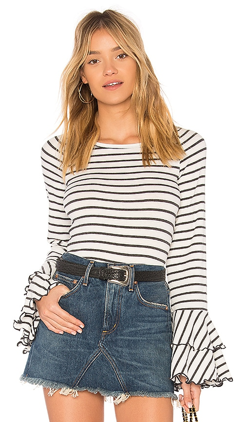 Free People Good Find Stripe Tee in Gray