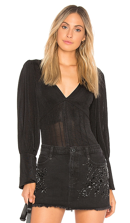 Free People Killer Queen Tee in Black