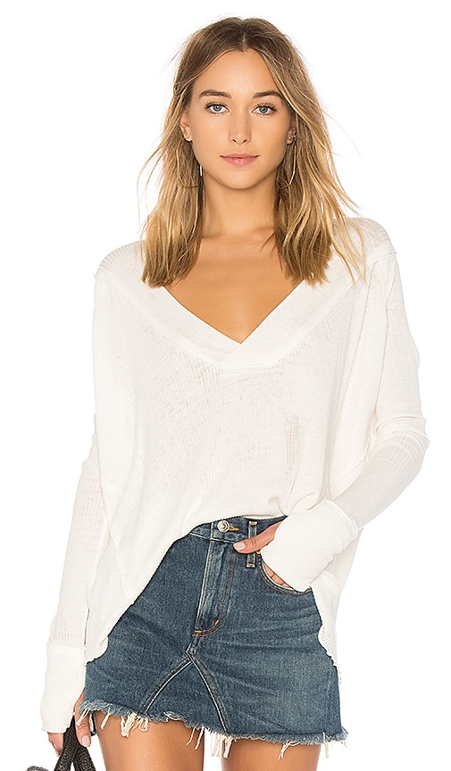 Free People Ocean View Tee in Ivory