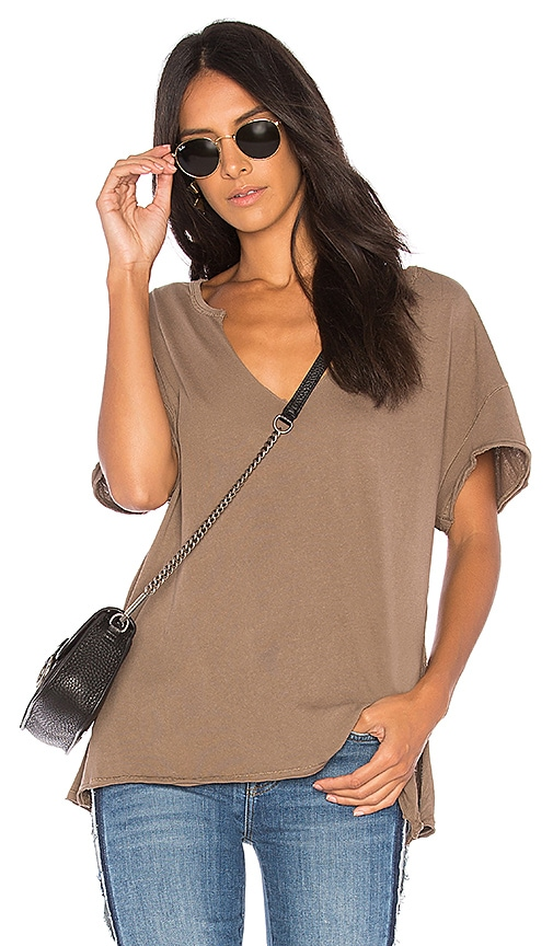 Free People Lilly Tee in Taupe