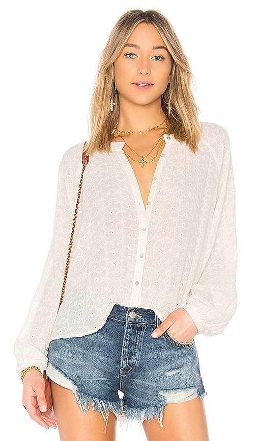 Free People Down From The Clouds Top in Ivory