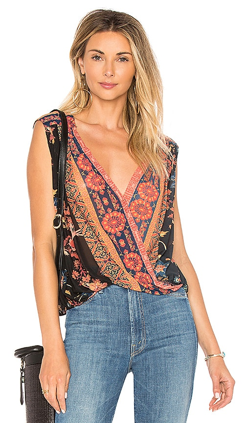 Free People Havana Muscle Tank in Black