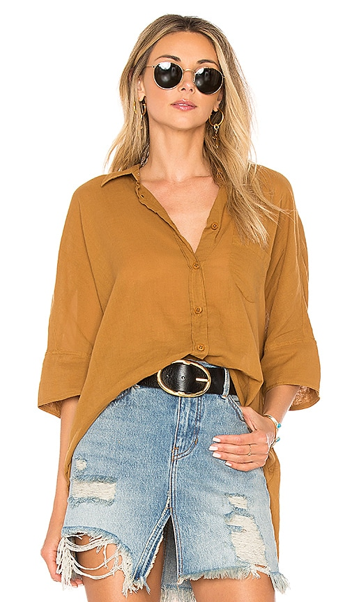Free People Best Of Me Top in Tan