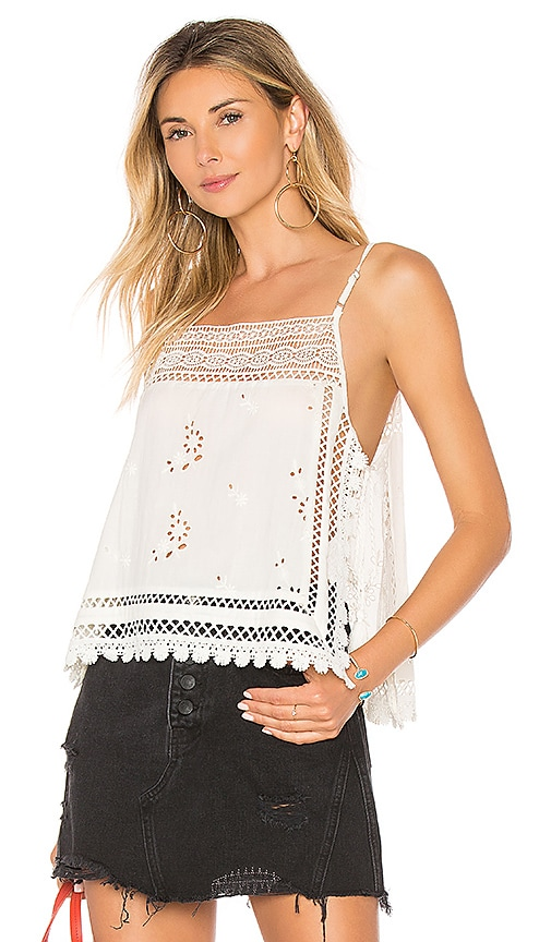 Free People Garden Party Cami in White