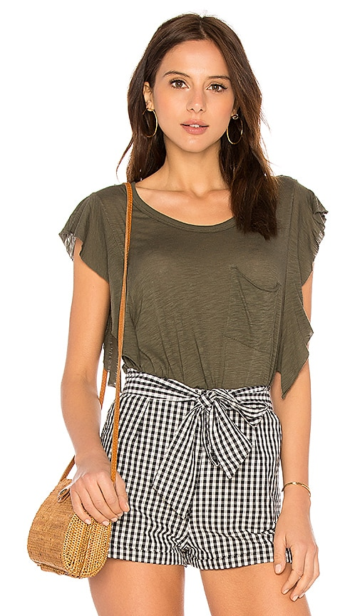 Free People So Easy Tee in Army