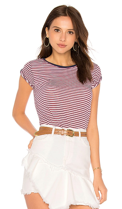 Free People Stripe Clare Tee in Blue