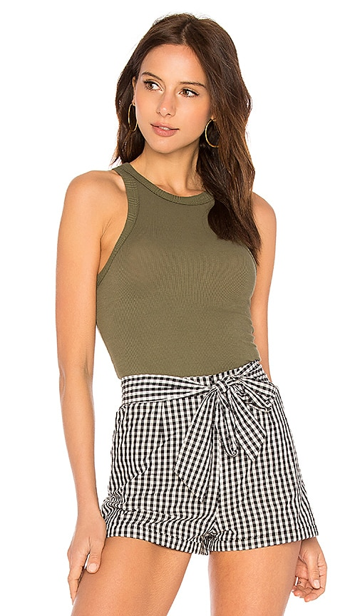 Free People Wide Eyed Tank in Army