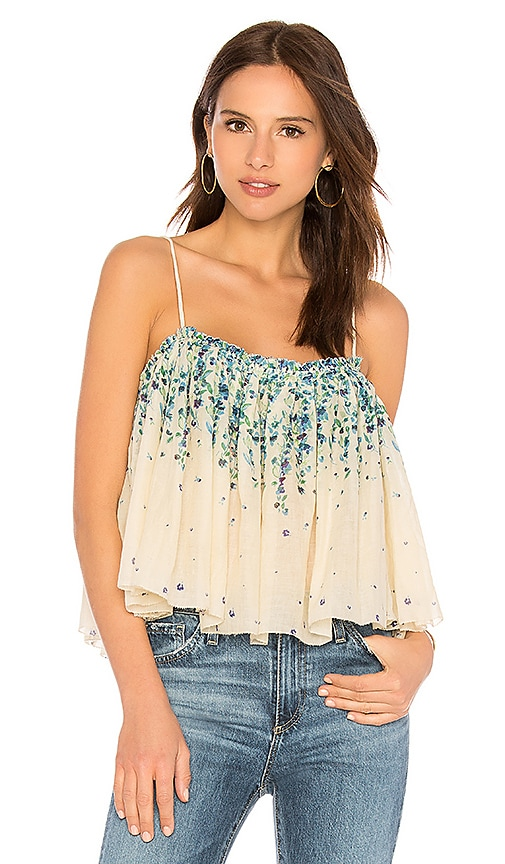 Free People Instant Crush Printed Tank in Ivory