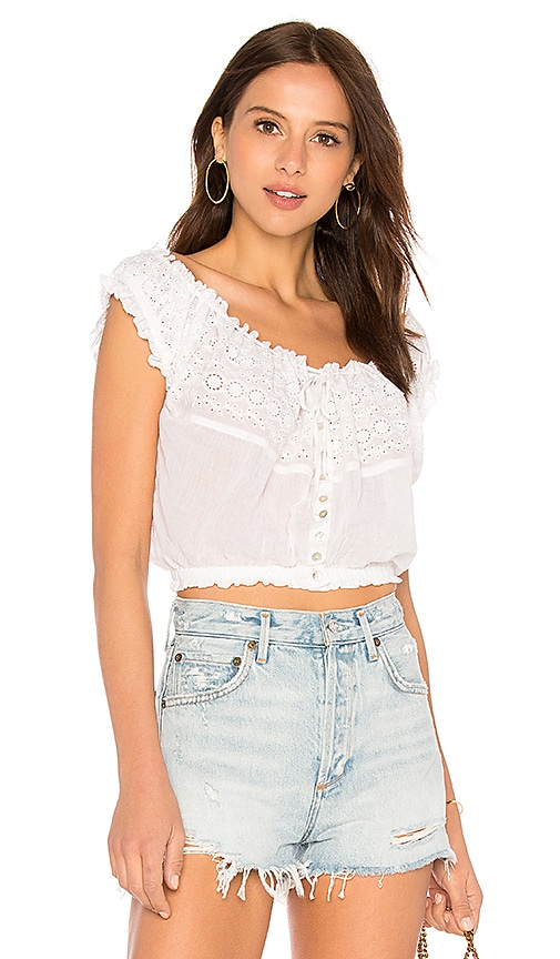 Free People Eyelet You A Lot Top IzrwHf66W