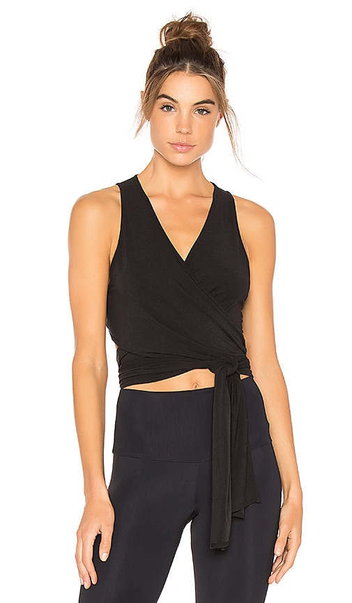 Free People That's A Wrap Top in Black