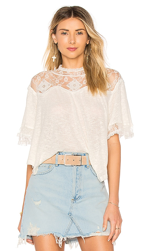 Free People Cape May Tee in White