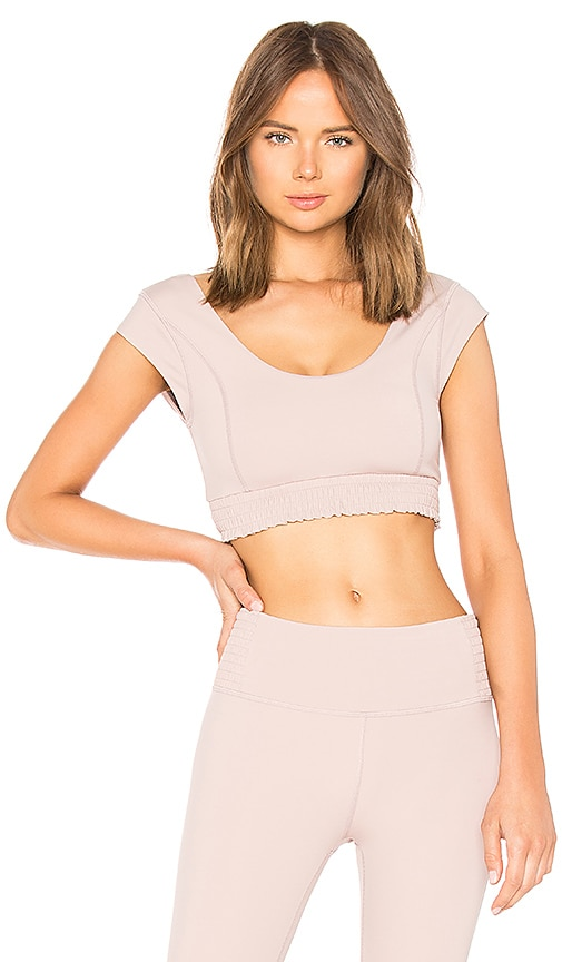 Free People Starlight Crop Top in Mauve