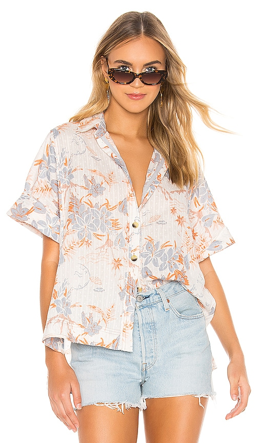 Love Letters Button Down In Ivory by Free People