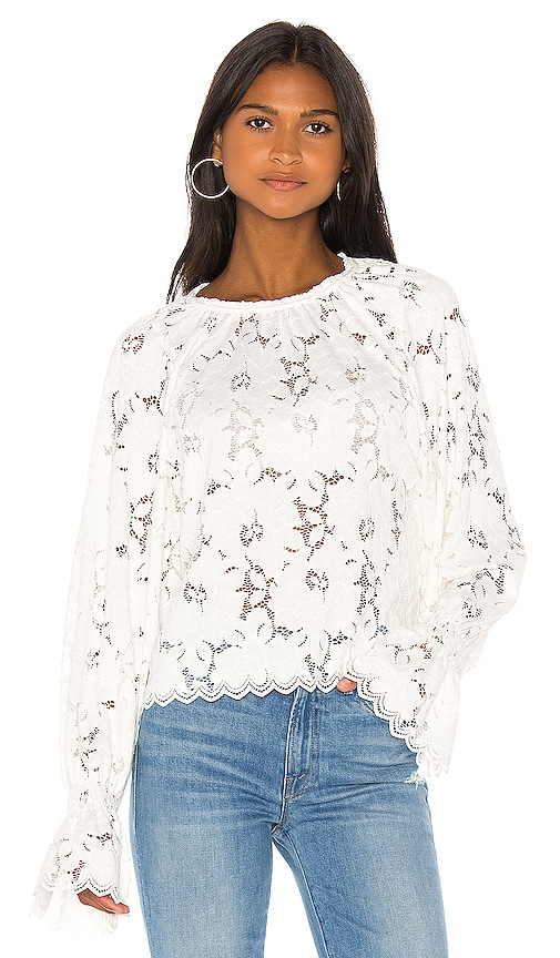 Olivia Lace Tee by Free People