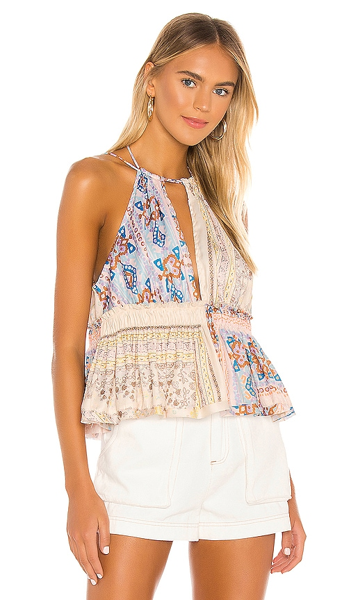 Free People Bellini Patchwork Tank in Ivory | REVOLVE