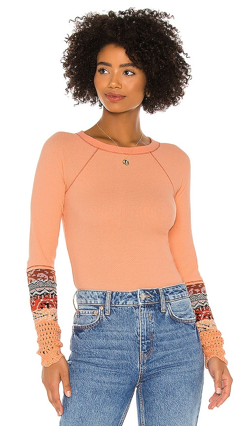 Free People IN THE MIX CUFF TOP