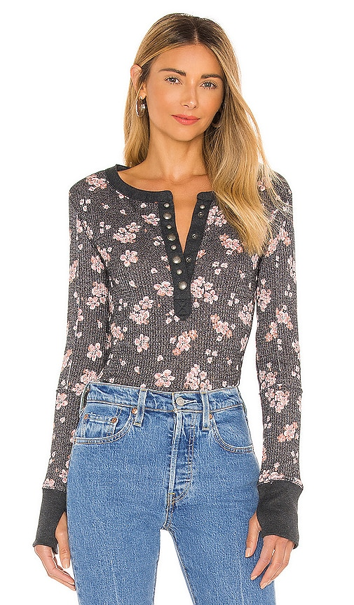 Free People Clothing EVEREST HENLEY TEE