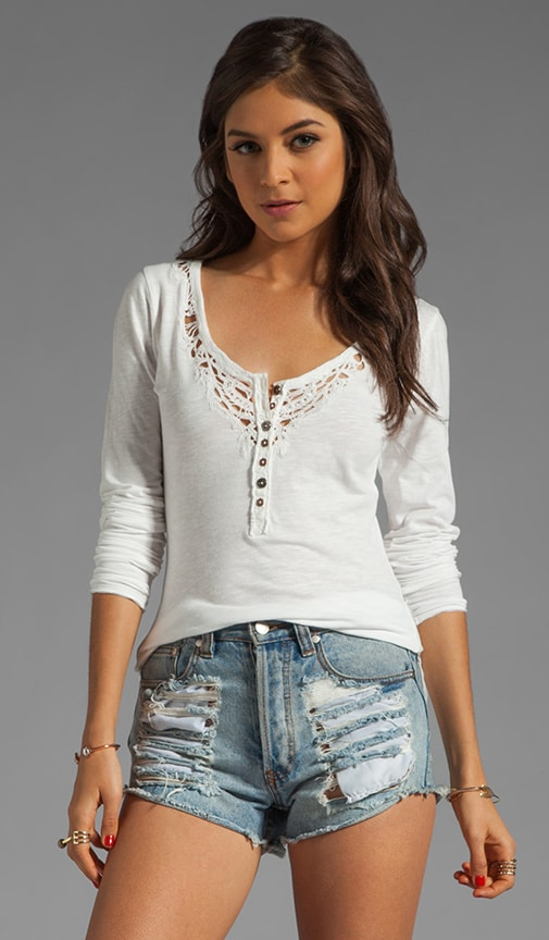 Legacy Crochet Henley Top