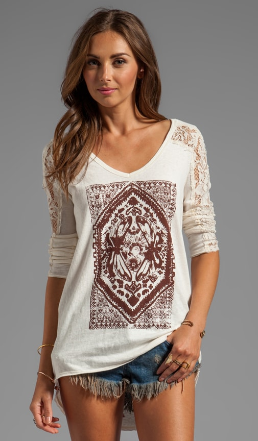 Lady in Lace Graphic Top