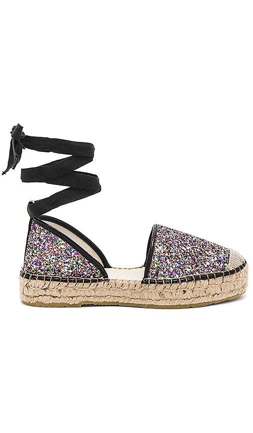Free People Paradise Espadrille in Metallic Silver