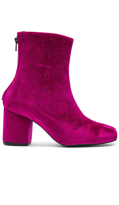 Free People Velvet Cecile Ankle Boot in Fuchsia