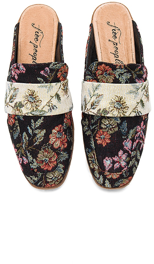 Free People Brocade At Ease Loafer in Black