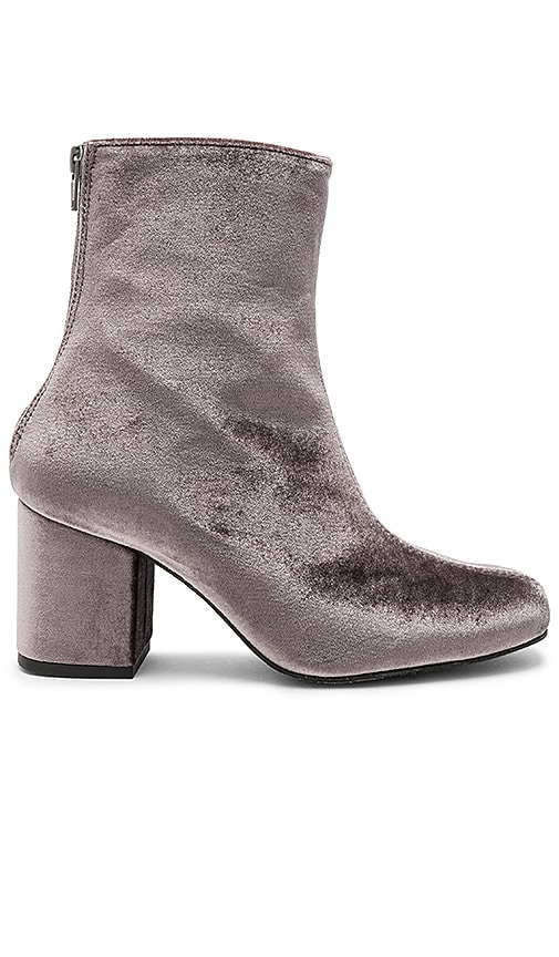 Free People Velvet Cecile Bootie in Gray