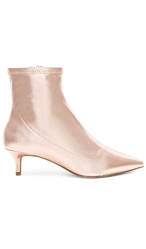 Free People Marilyn Kitten Heel Boot in Metallic Copper