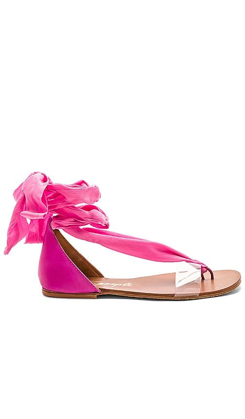 Free People Barcelona Wrap Sandal in Pink