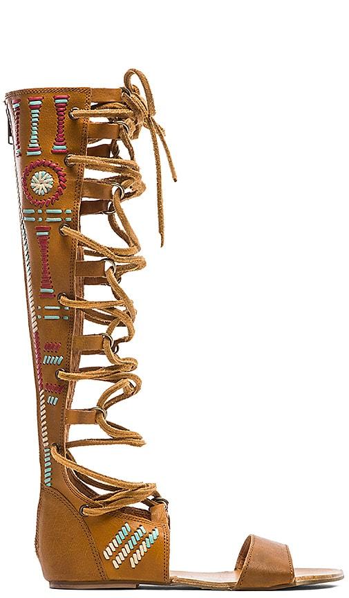 Free People Bellflower Tall Sandal in Tan Combo