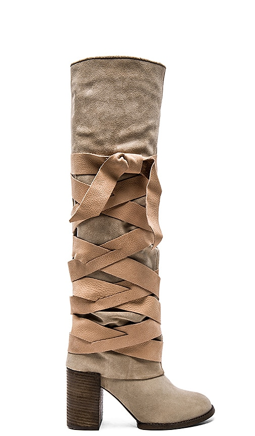 Free People Paradiso Wrap Boot in Camel