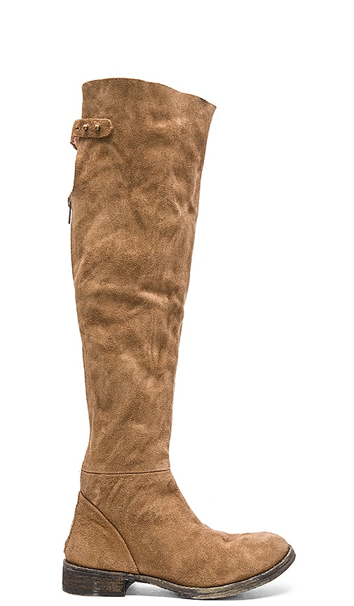 Free People Carlisle Tall Boot in Honey Whiskey
