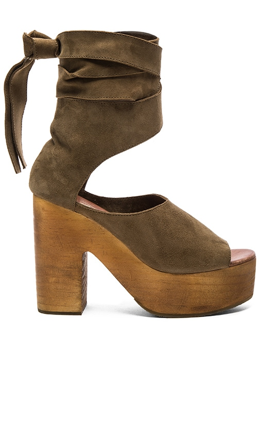 Free People Touch the Sky Clog in Olive
