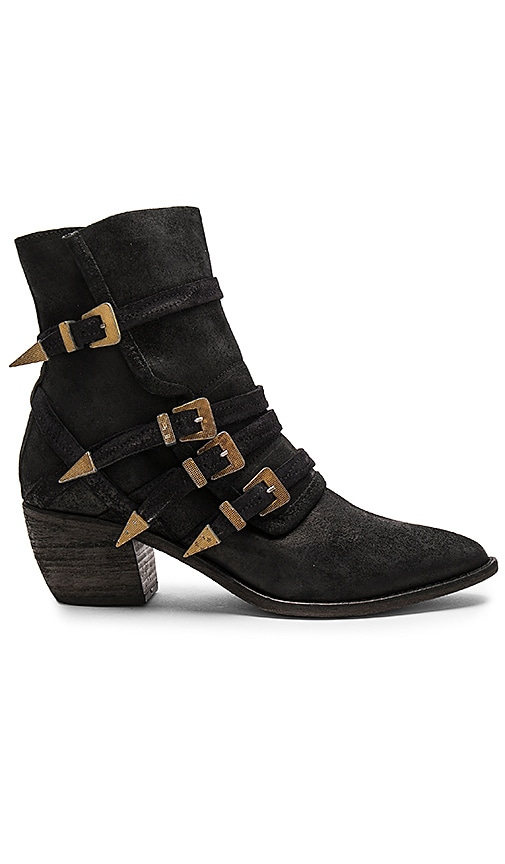 Free People Mason Western Bootie in Black
