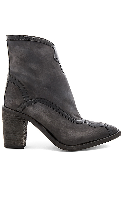 Free People Winding Road Heel Boot in Black