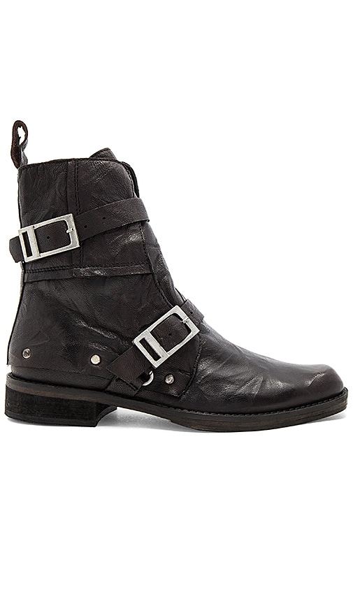 Free People Outsiders Moto Boot in Black