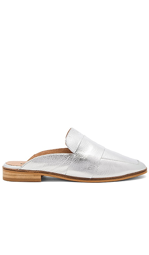 Free People At Ease Loafer in Metallic Silver