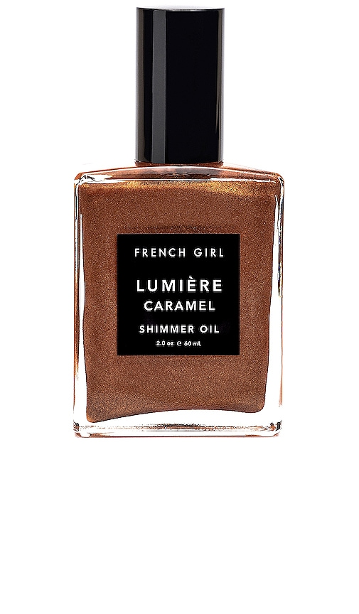 French Girl Lumiere Caramel Shimmer Body Oil In N,a
