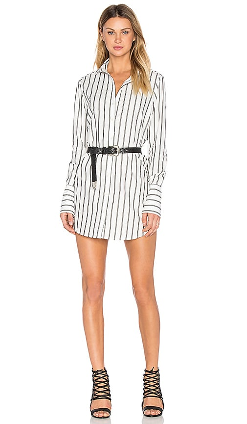 Frankie Button Up Dress in White