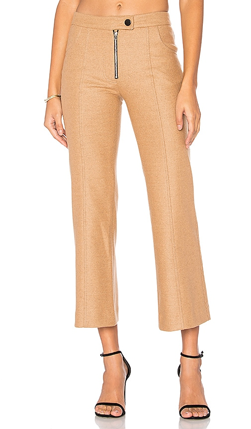 Frankie Wool Crop Pant in Tan