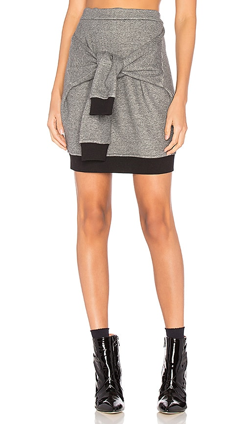 Frankie Tie Mini Skirt in Gray