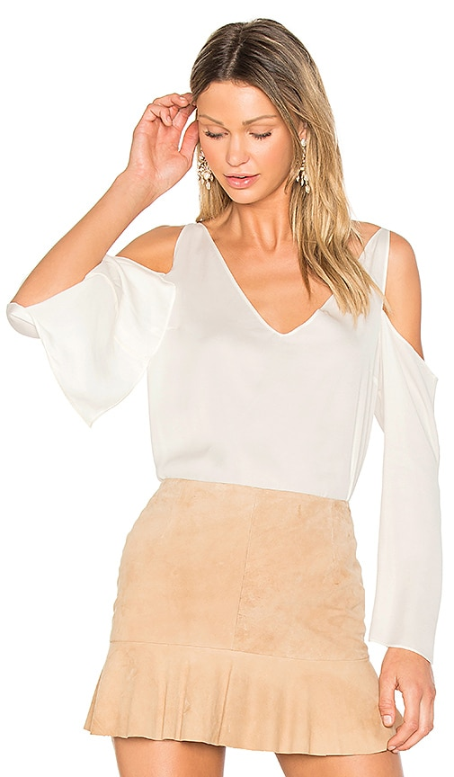 Frankie Open Shoulder Blouse in White