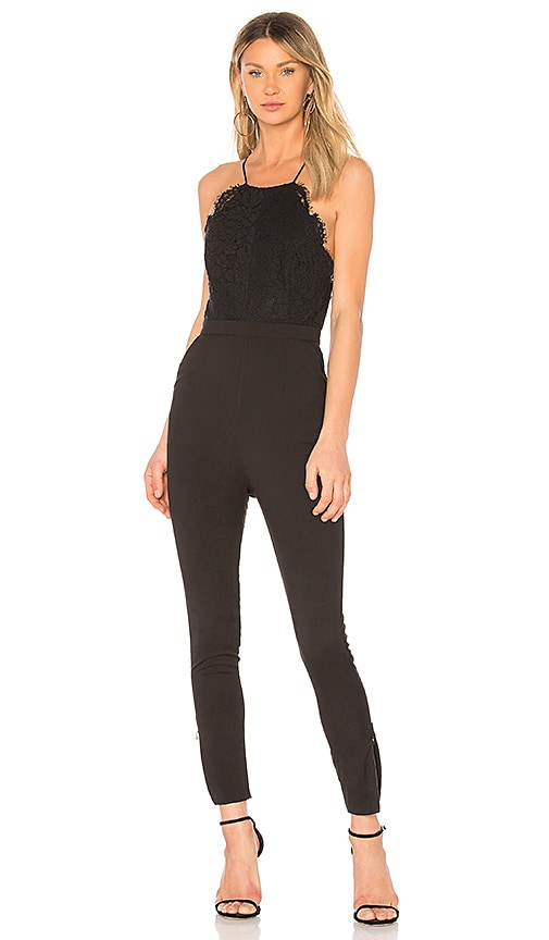 Fame And Partners The Shona Jumpsuit In Black Revolve