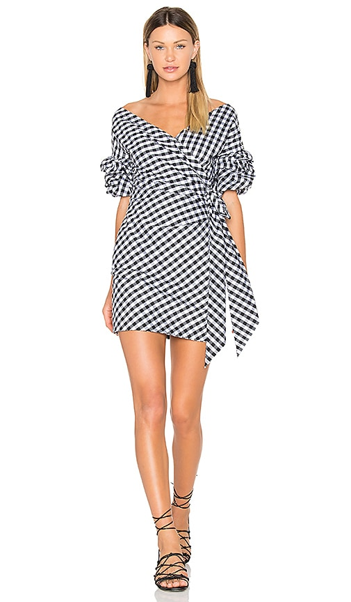 FAME AND PARTNERS X REVOLVE Russo Mini Dress in Black & White