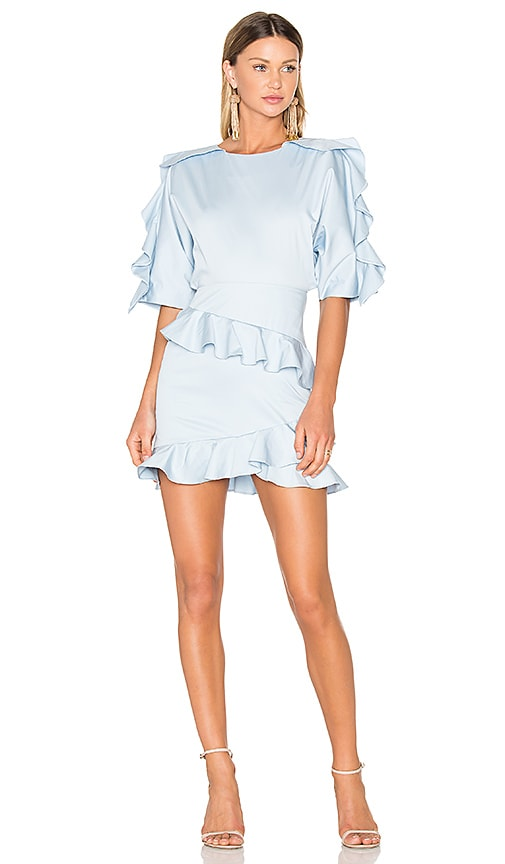 FAME AND PARTNERS X REVOLVE Amelia Mini Dress in Baby Blue