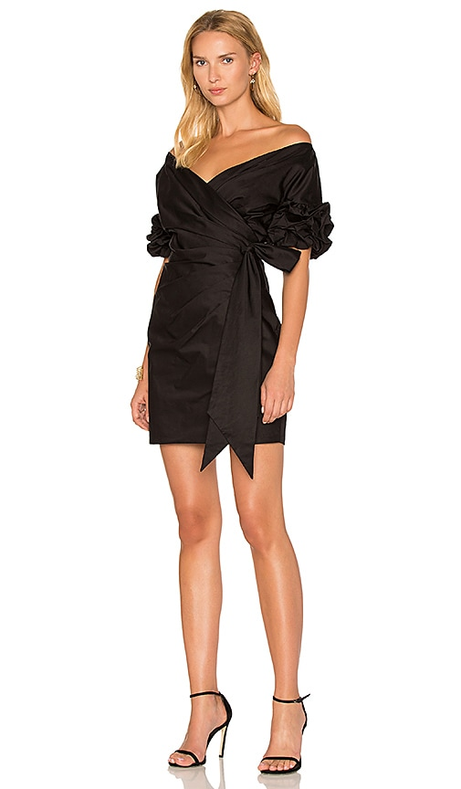 FAME AND PARTNERS x REVOLVE Issa Wrap Dress in Black