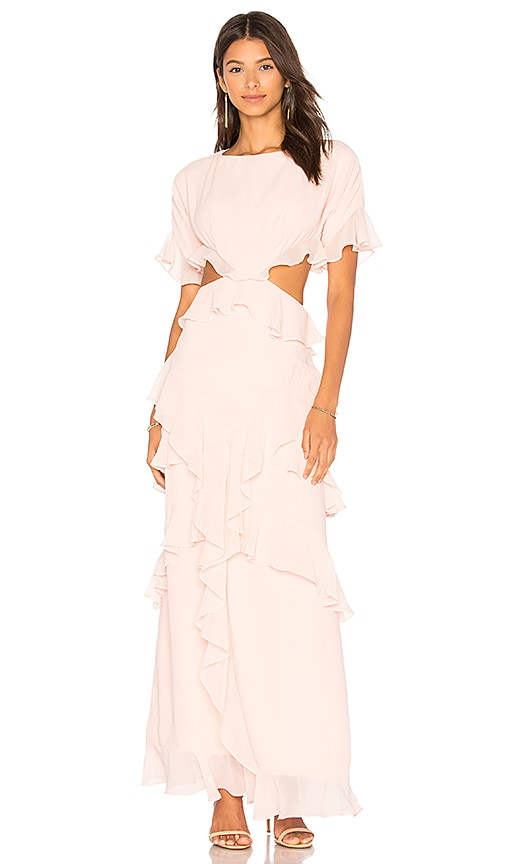 FAME AND PARTNERS x REVOLVE Marisa Ruffle Dress in Pink